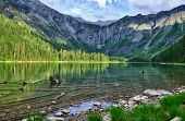 pic of avalanche  - Avalanche lake with reflection in Glacier National Park - JPG