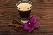 stock photo of cardamom  - Espresso with orchid beans cinnamon star - JPG