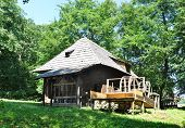 stock photo of sibiu  - sibiu romania ethno museum wood water mill - JPG