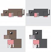 picture of mole  - symbol icon design cartoon rectangle animal mole - JPG