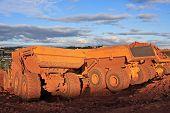foto of dump-truck  - dump truck on a road construction site - JPG