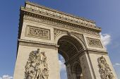 stock photo of charles de gaulle  - Arc de triomphe in the city of Paris France - JPG