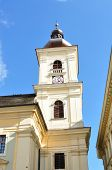 image of sibiu  - Sibiu city Romania Catholic Church tower architecture - JPG