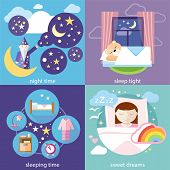 stock photo of sweet dreams  - Banners with sleeping time - JPG