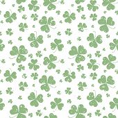 picture of saint patrick  - Seamless pattern with Saint Patricks day shamrock leaves - JPG