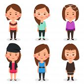 foto of outfits  - A vector illustration of women avatars in different outfits - JPG
