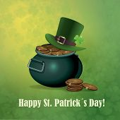 picture of shamrock  - Greeting card with St - JPG