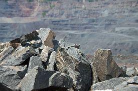 picture of iron ore  - Iron ore opencast mining - JPG