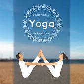pic of yoga  - Vector yoga illustration - JPG