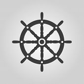foto of steers  - The ship steering wheel icon - JPG