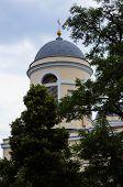 stock photo of kiev  - The domes of the main catholic cathedral in Kiev Ukraine - JPG