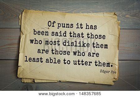Poster: TOP30 Aphorism by Edgar Allan
