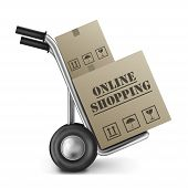 Online Shopping Cardboard Box