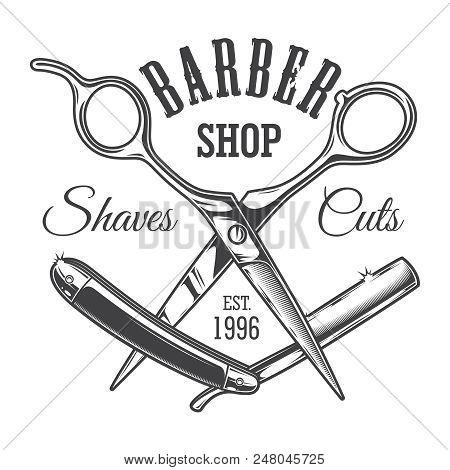 Vintage Hairdresser Salon Label With