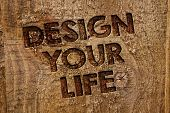Word Writing Text Design Your Life. Business Concept For Set Plans Life Goals Dreams Take Control To poster