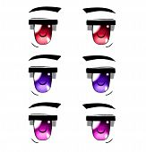 Anime Eyes Of The Beautyful Colors, Anime Style. poster