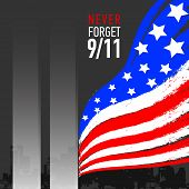 Patriot Day Vector Poster. September 11. Never Forget. poster