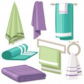Cartoon Bath Towel. Cloth Towels Hanging In Bathroom For Home Hygiene Soft Body Cotton Beach Hotel S poster