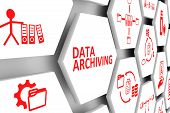 Data Archiving Concept Cell Background 3d Illustration poster