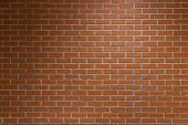 Red Brick Wall Texture Background. Surface Texture Masonry Bright Cleaned Brickwork. poster