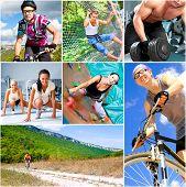 Постер, плакат: Спортивный образ жизни концепция