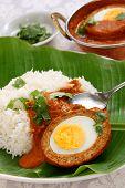 stock photo of kadai  - nargisi kofta curry and rice - JPG