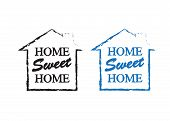 Home Sweet Home. Banner Home Decoration Vector poster