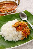 picture of kadai  - sambar in kadai and rice - JPG