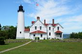 picture of iroquois  - Point Iroquois Lighthouse in the Upper Peninsula of Michigan - JPG