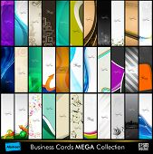 Mega collection of 33 abstract professional and designer slim business cards or visiting cards on di