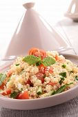 image of tagine  - tagine with couscous and vegetables - JPG