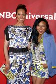 LAS VEGAS - APR 22:  Louise Roe, Jeannie Mai at the NBCUniversal Summer Pres Day 2013 at the Hunting