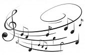 picture of clefs  - Illustration of the musical notes with the G - JPG