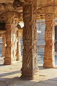 image of krishna  - Some beautiful pillar of the Krishna temple in Hampi a village on the place of the great ancient city Vijayanagara - JPG