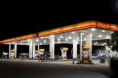 JACKSONVILLE, FL-APRIL 7: Shell gas station op 7 April 2012 in Jacksonville, Florida. Volgens