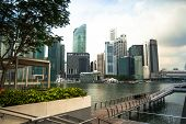 SINGAPORE - APRIL 15: A view of city in Marina Bay business district on April 15, 2012 on Singapore.