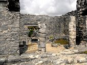 stock photo of conquistadors  - Mayan ruins of Tulum in Quintana Roo Mexico - JPG