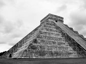 pic of conquistadors  - Mayan ruins of Chichen Itza in Yucatan Mexico Castillo Pyramid - JPG