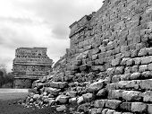 image of conquistadors  - Mayan ruins of Chichen Itza in Yucatan Mexico - JPG