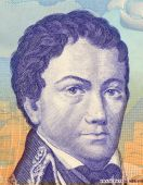 picture of bolivar  - Francisco de Miranta on 2 Bolivares 2007 Banknote from Venezuela - JPG