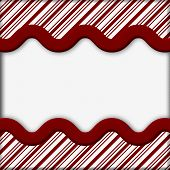 foto of candy cane border  - Candy Cane Striped Christmas Background with center copy - JPG