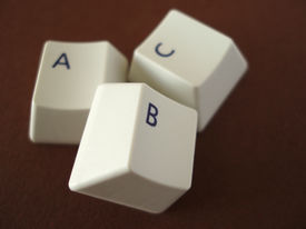 foto of keyboard keys  - the letters abc from a keyboard - JPG