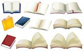 picture of storybook  - Illustration of the empty books on a white background - JPG