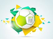 pic of football pitch  - Shiny soccer ball with stylish text let - JPG