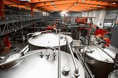 image of fermentation  - Interior of a modern brewery equipment tools - JPG