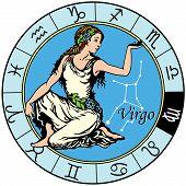 image of virgo  - virgo astrological zodiac sign isolated on white - JPG