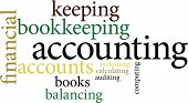 stock photo of nouns  - Illustration of the word accounting in word clouds isolated on white background - JPG