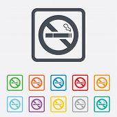 picture of tobacco smoke  - No Smoking sign icon - JPG