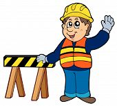 Cartoon construction worker