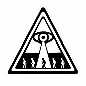 picture of illuminati  - This is an illustration of global control in concpiracy theories - JPG